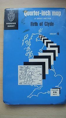 Ordnance Survey Map Firth Of Clyde  1/4 Inch 1965