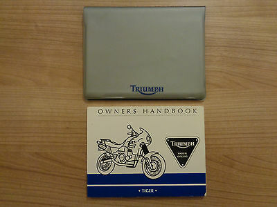 Triumph Tiger Owners Handbook/Manual and Wallet