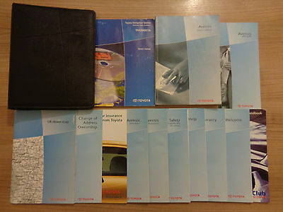 Toyota Avensis Owners Handbook/Manual and Wallet 03-08