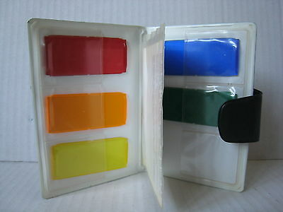 Olympus OM T32 T 32 T28 28 Colour Flash Filters Set w/ Pouch