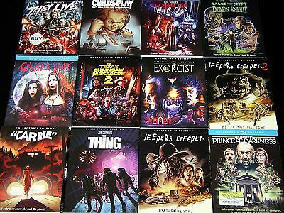 """SCREAM! SHOUT! FACTORY - PICK ANY """"SLIPCOVER"""" BLU-RAY The Thing Jeepers Creepers"""