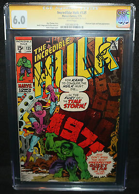 Incredible Hulk #135 - Sketch by Herb Trimpe - CGC Signature Series 6.0 - 1971