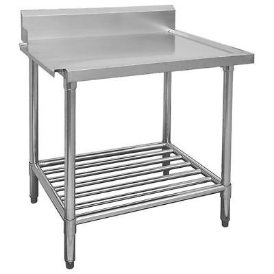 Dishwasher Inlet Table with Pot Shelf, 600mm, Left, Commercial Quality Bench