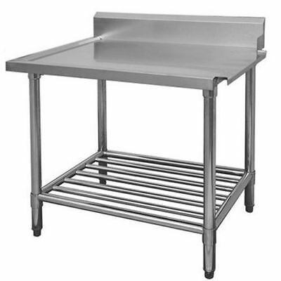 Dishwasher Inlet Table with Pot Shelf, 2400mm, Right, Commercial Quality Bench