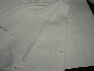 """Antique Linen Bed Sheet - 84"""" by 127"""""""