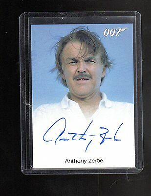 James Bond Mission Logs Anthony Zerbe auto card