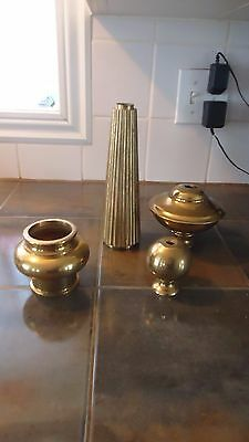 vintage SOLID brass lamp parts
