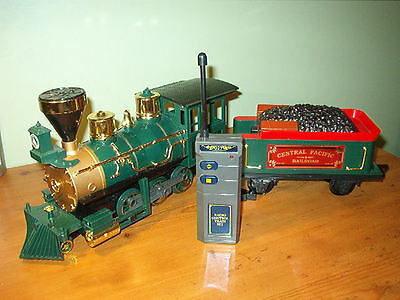 Scientific Toys G-Scale CENTRAL PACIFIC R.R. Steam Engine with Tender w / REMOTE