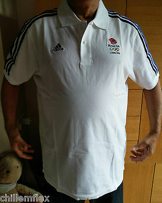 Rare ADIDAS LONDON 2012 Olympic Games Team GB Mens XL polo top