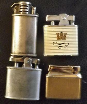 Vintage Cigarette Lighter Lot: Ronson, Kreisler, Symbol, Camel
