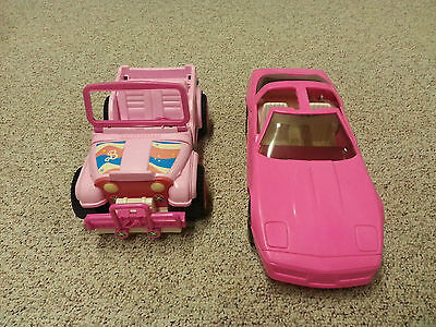 Lot of 2 cars - BARBIE CAMARO & JEEP  - Good Condition