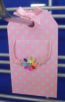 25 Plastic Necklace Holder Pink With Dots Retail Store Display Merchandise