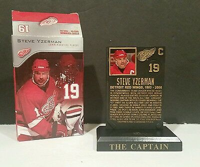 Steve Yzerman Commemorative Hall Of Fame Plaque Detroit Red Wings #19