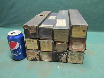 Lot of 11 Misc. Antique Vintage Player Piano Music Roll Rolls