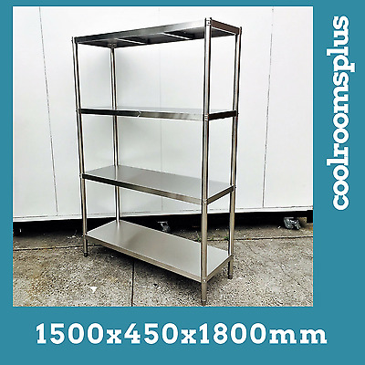 1500x450x1800mm Stainless Steel Warehouse Shed Racks Shelves Shelving 400K Load