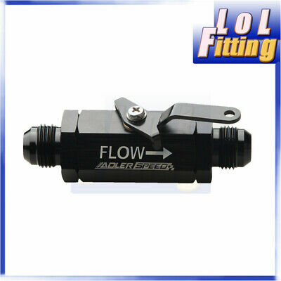 AN10 10AN -10 AN Shut Off Valve Fitting Aluminum Black