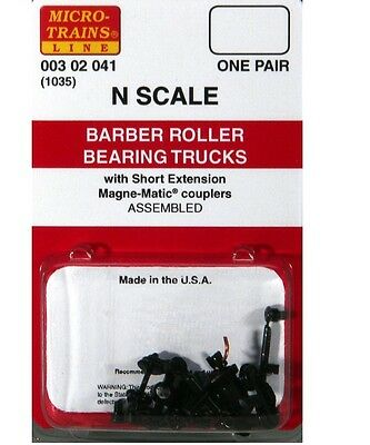 Micro Trains Line N Scale 302041 Truck roller bearing w/coupler 2 Pair