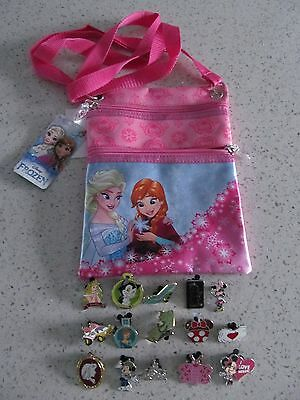 Disney Trader Pins Princess With Frozen Carry Satchel Lot of 15 Pins