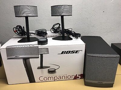 Bose Companion 5 Multimedia Computer Speaker System Complete GREAT GORGEOUS!