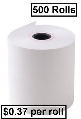 500 57x40mm Eftpos Thermal Cash Receipt Rolls ($0.37 per roll)+Free Shipping!