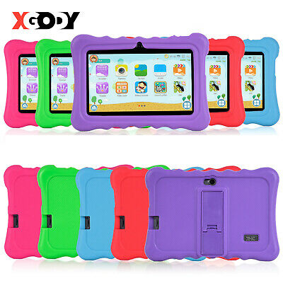 """Newest 7"""" Inch Kids Android 8.1 Tablet Pc Quad Core Hd Wifi Child Children Xgody"""