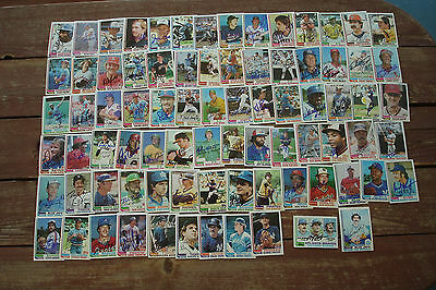 1982 Topps + Traded MLB Baseball Signed Autograph Lot x81 CARDINALS Cubs GIANTS