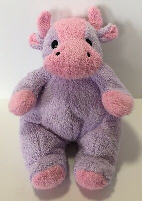 Baby Ty Moocowbaby Plush Purple Pink Cow