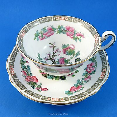 Pretty Indian Tree Foley Tea Cup and Saucer Set