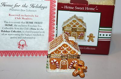 HOME SWEET HOME trinket box GINGERBREAD MAN Home for the Holidays Collection NIB
