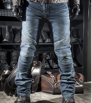 Motorcycle Denim  Black / Blue  Protection  Pants