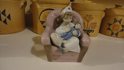 NAO by Lladro Child Playing Nurse in Chair