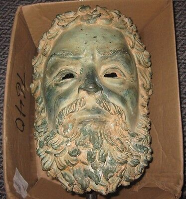ZEUS? or APOLLO ? Fantastic Old Large & Heavy Cast in Bronze  OVER 22 Lbs!
