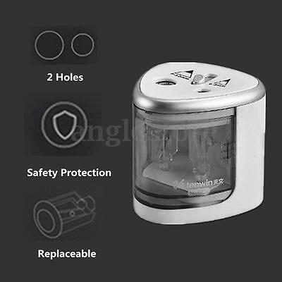 Electric Automatic Pencil Sharpener Switch Battery Operated Office School Home