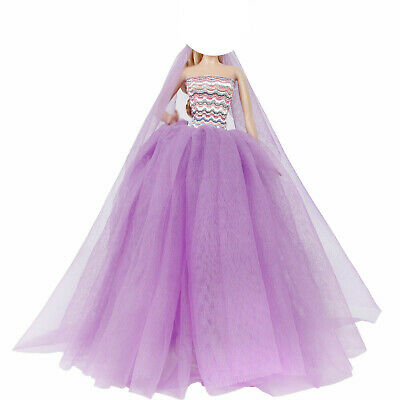 Fashion Pajamas Night Dress Gauze Coat Sleeping Clothes Outfit For Barbie Doll G