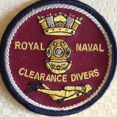 Royal Navy Clearance Divers Embroidered Battle Dress Badge