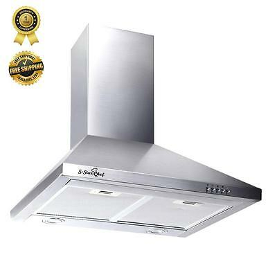 600mm 60cm RANGEHOOD Stainless Steel Range Hood Commercial Home Kitchen Canopy