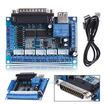 Mach3 CNC Stepping Motor Driver Interface Adapter Breakout Board +USB Cable