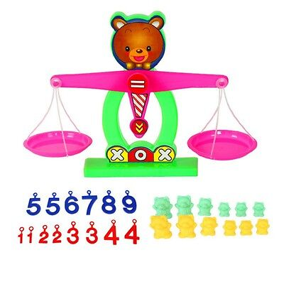 Kid Educational Balance Beam Scale Toys Measuring Weights Numbers Pre School Toy