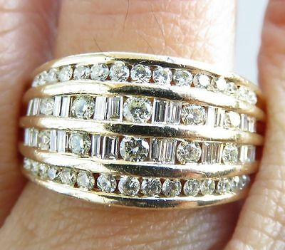 REDUCED - Stunning 1.2 ct Diamond & 9k Yellow Gold Ring - EUC - Prouds Jewellers