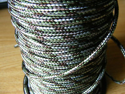 50FT 15 metre 550 Paracord Strands Parachute Cord Rope Lanyard Army camo UK