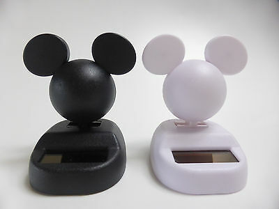 NEW!! Mickey Mouse Official Disney Solar Suncatchers from Japan Black White 2pcs