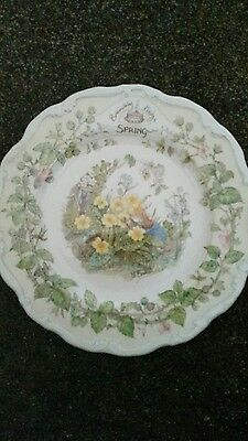 Royal Doulton Brambly Hedge Spring Plate Four Seasons