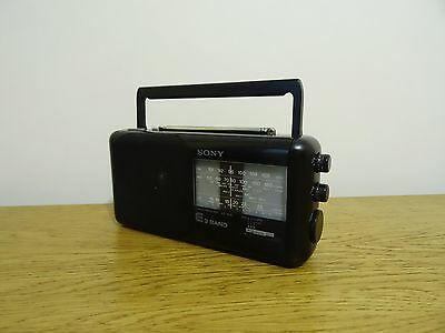 Sony ICF-760L Compact Portable LW/MW/FM Radio Tuner Receiver, Battery/Mains