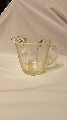 Depression Era Glass Water Jug