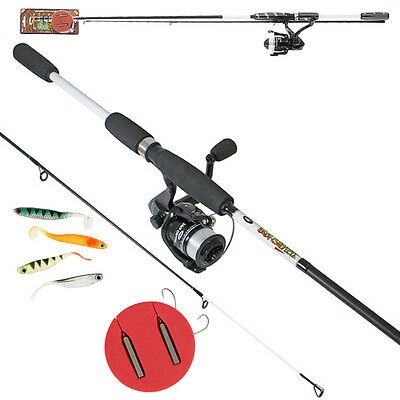 NGT DYNAMIC DROP SHOT FISHING SET ROD AND REEL COMBO WITH 4pc SHOT KIT
