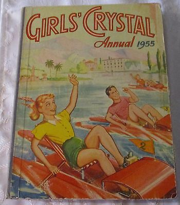 Girl's Crystal Annual 1955   - Price Un  Clipped