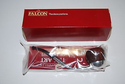 Falcon Smoking Pipe - Bent stem, smooth Apple bowl standard mouthpiece