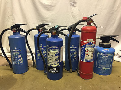 Assorted fire extinguishers x10 (second hand)