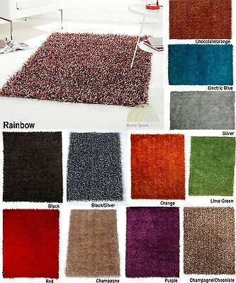 Flair Rugs Spider Shaggy Floor Rugs Modern Large Small Various Colours