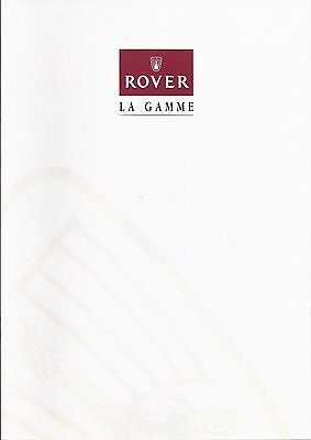 Catalogue ROVER Gamme 1997 - 10 pages - 07/1997